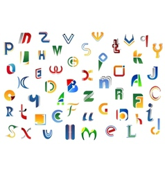 Alphabet letters and symbols vector image