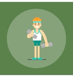 Athletic young man doing exercise vector image vector image