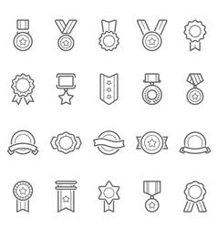 Badge Awards icons set vector image vector image