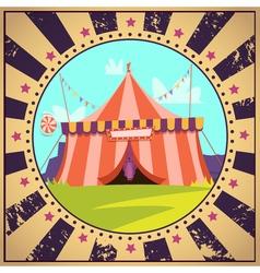 Circus cartoon poster vector