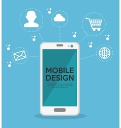 mobile design online network icons vector image
