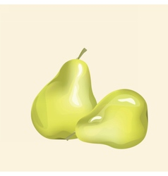 Pears fruit background vector image vector image