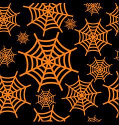 spider web orange vector image