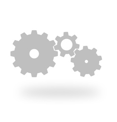 Three grey cog wheels vector image