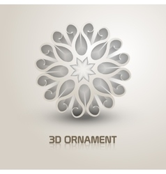 3d Ornament shape icon Trendy shape with shadows vector image vector image