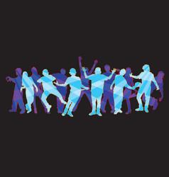 dancers 2 vector image vector image