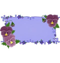 greetings card with pansies vector image