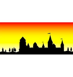 silhouette of the castle vector image