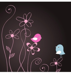 Birds couple in love vector image