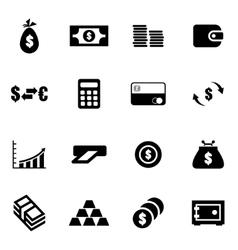 black money icon set vector image vector image