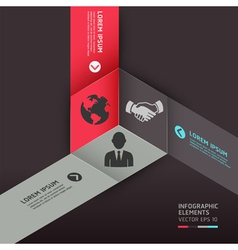 Business circle origami style options banner vector image