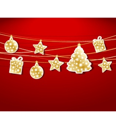Christmas labels vector image