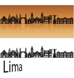 lima skyline vector image