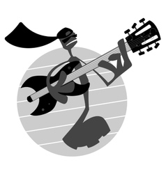 Note Playing Guitar vector image