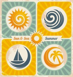 Retro summer holiday poster vector image