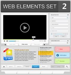 web elements set 2 vector image vector image