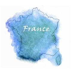 France watercolor map vector image vector image