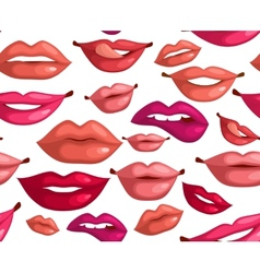 Seamless lips vector image