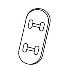 skate board sport isolated icon vector image
