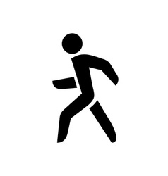 Walking man isolated silhouette vector image