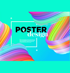 Abstract minimal poster design background with vector