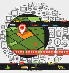 Abstract transportation scheme vector