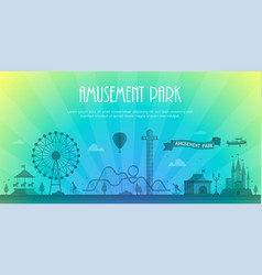 Amusement park - modern with vector