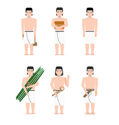 Ancient egypt builders vector