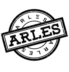 Arles rubber stamp vector image