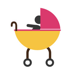 Baby shower card icon vector