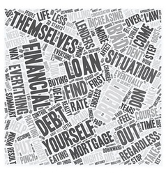 Bad Credit Mortgage Loan A Closer Look text vector