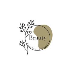 Beauty salon logo hand drawn logo template vector
