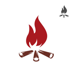 Bonfire icon isolated on white vector