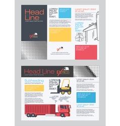 Brochure transportation vector image