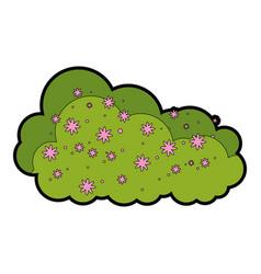 Bush garden isolated icon vector