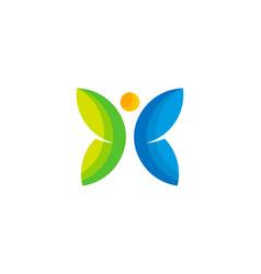Butterfly wellness logo icon design vector