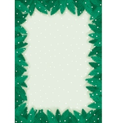 christmas card with empty blank for text vector image