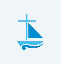 church logo and christian symbols vector image