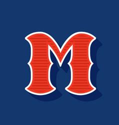 Classic style m letter sport logo vector