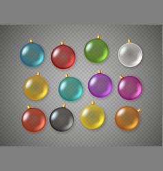 color baubles set top view composition vector image