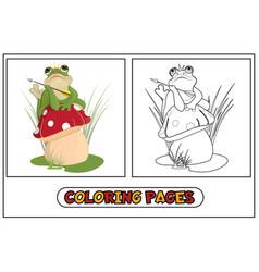 coloring frog princess vector image