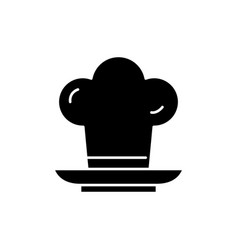 cooker black icon sign on isolated vector image