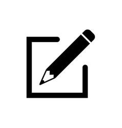 Edit icon in flat style simple pen symbol vector