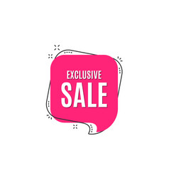 Exclusive sale special offer price sign vector