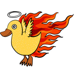 Fire duck vector