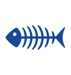 Fish bone icon vector