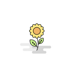 flat flower icon vector image