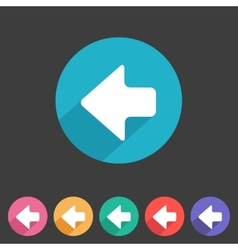 Flat game graphics icon arrow left vector image