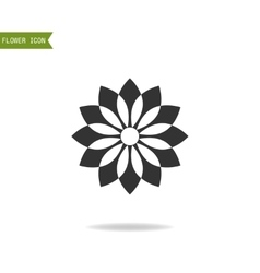 Floral flat icon symbol Silhouette flower vector image