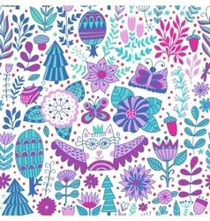Forest design floral pattern vector